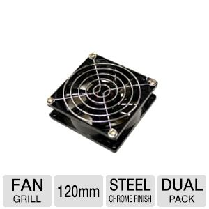 Bgears 120mm Steel Chrome Finished Fan Grill