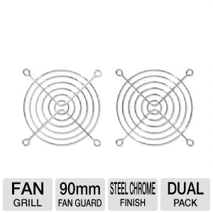 Bgears 90mm Steel Chrome Finished Fan Grill