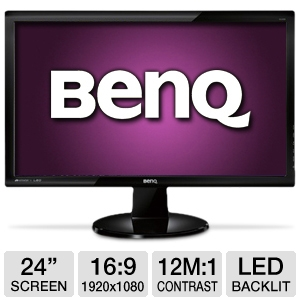 "BenQ GL2450HM 24"" Pro Gaming Monitor, 2ms, HDMI"