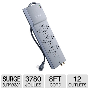Belkin BE112230-08 12-Outlet Surge Supressor
