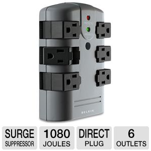 Belkin BP1060 6-Outlet Wall-Mount Surge Suppressor