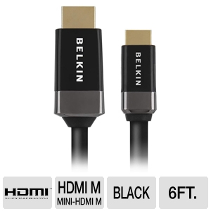 Belkin 6ft Mini HDMI-to-HDMI Standard Cable
