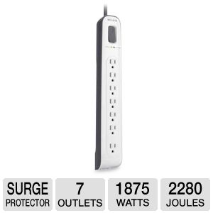 Belkin Surge Protector 7 Outlet w/Phone Protection
