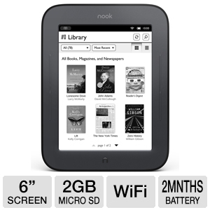 "NOOK Simple Touch 6"" eReader"