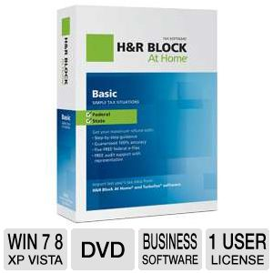 H&R Block At Home Basic + State Tax Software