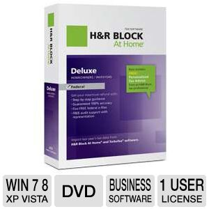 H&R Block At Home Deluxe Tax Preparation Software