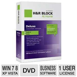 H&amp;R Block At Home Deluxe + State 2012 Tax Software