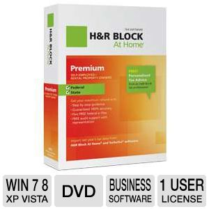 H&R Block At Home Premium + State Tax Software