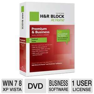 H&amp;R Block At Home Premium &amp; Business Tax Software