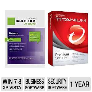 H&R Block At Home Deluxe + State 2012 Tax S Bundle