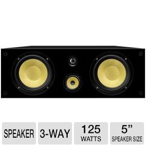 "BIC AMERICA VK-6LCR 6.5"" 3-Way On-Wall LCR Speaker"