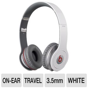 Beats by Dre Solo HD White On-Ear Headphones