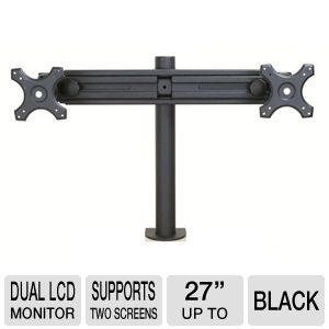 Inland 05321 Dual LCD Monitor Arm Mount up to 27in