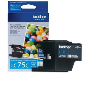 Brother LC75C High-Yield (XL Series) Cyan Ink