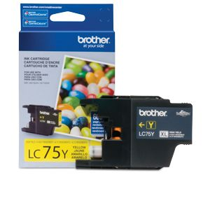 Brother LC75C High-Yield (XL Series) Yellow Ink