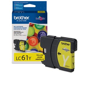Brother LC61Y Yellow Ink Cartridge Standard Yield