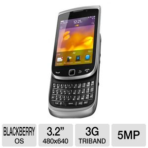 Blackberry 9810 Unlocked GSM Cell Phone - BlackBerry OS 7.0, Touchscreen, QWERTY Keyboard, 5MP Camera, Organizer, Voice Memo, Predictive Text, Geo-Tagging