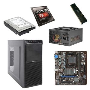 DIY Bundle AMD FX-8310 / MSI 760GM-P34 / 8GB RAM / 2TB HDD / Case w/650W