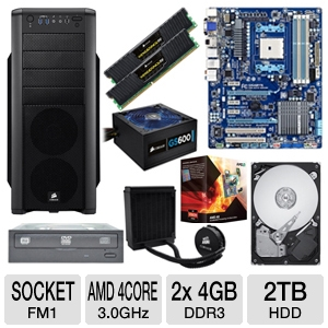 GIGABYTE GA-A75-UD4H AMD A Series Motherboa Bundle