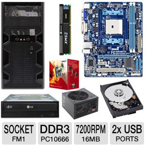 GIGABYTE GA-A55M-DS2 AMD A Series Motherboa Bundle