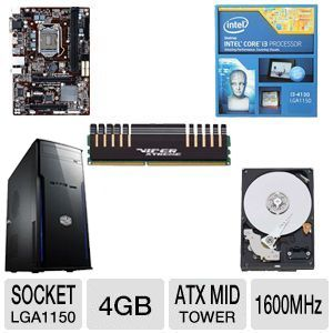 INTEL I3 4130/GB B85/4GB DDR3/500GB/450W/CS