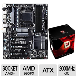 GIGABYTE GA-990FXA-UD3 AMD 900 Series Mothe Bundle
