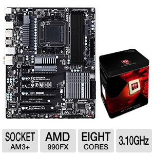 GIGABYTE GA-990FXA-UD5 AMD 900 Series Mothe Bundle
