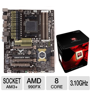 ASUS Sabertooth 990FX TUF series 5 year war Bundle