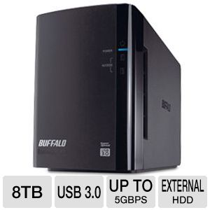 Buffalo DriveStation Duo 8TB Hard Drive