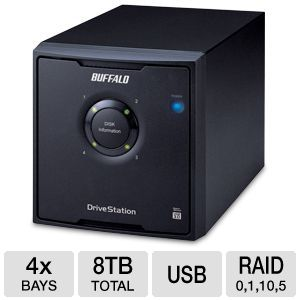 Buffalo DriveStation Quad 8TB Hard Drive