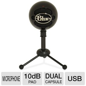 Blue Microphones SNOWBALLGLOSSBLACK Microphone