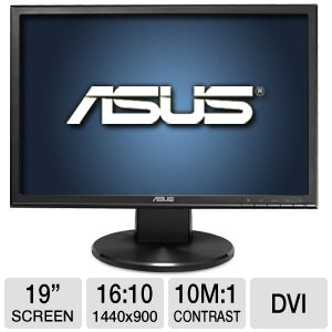 "Asus VW199T-P 19"" Class LED Backlit Monitor"