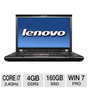 "Lenovo W520 15.6"" Core i7 160GB SSD Notebook"