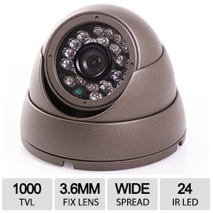 1000 TVL In Color CCD Camera - HD-IR1M24-G-3.6MM