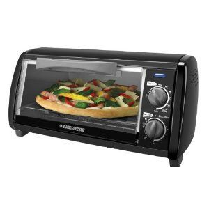 B&D BLACK 4 SLICE TOASTER OVEN COUNTERTOP