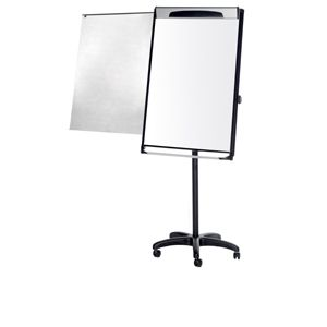 Mastervision Mag/Plat PW/DE/Mobile Pres Easel Blac
