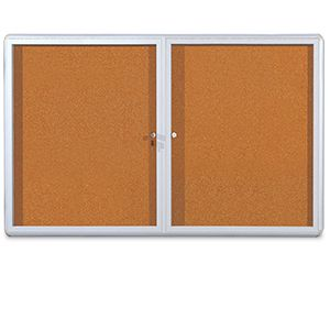 Mastervision Cork Bultin Enc Cabinet 36x60 2 Door
