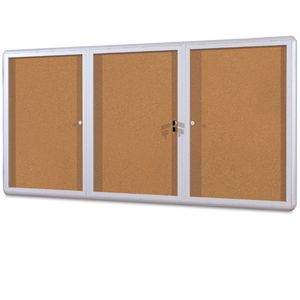 Mastervision Cork Bultin Enc Cabinet 36x72-3 Door