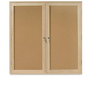 Mastervision Cork Bultin Enc Cabinet 36X48-2 Dr Oa