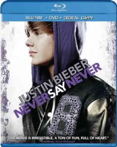 JUSTIN BIEBER:NEVER SAY NEVER - Blu-Ray