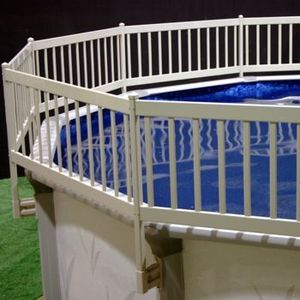 ABOVE GROUND POOL FENCE KIT (8 SECTION) - TAUPE