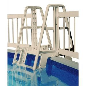 POOL LADDER/STEP TO FENCE CONNECTOR KIT - TAUPE