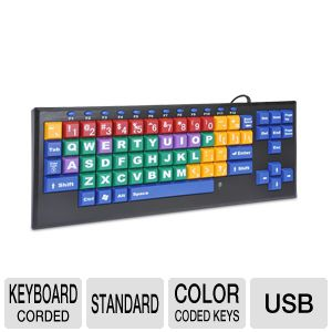KinderBoard KB Color Coded Computer Keyboard
