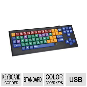 MyBoard-lc MB-lc Color Coded Computer Keyboard