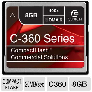 Centon 400X 8GB C 360 Compact Flash Memo