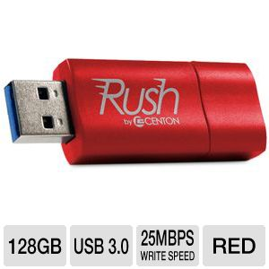 Centon DataStick Rush 128GB USB Flash Drive