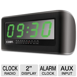 COBY CRA108 Digital Jumbo Alarm Clock Radio