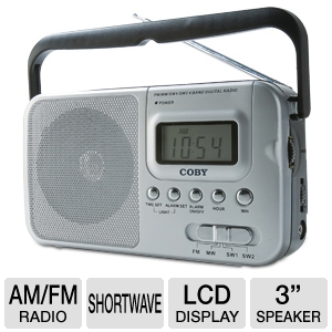 COBY CX39 Portable AM/FM/Shortwave Radio 
