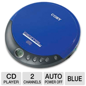 COBY CXCD109 Slim Personal CD Player