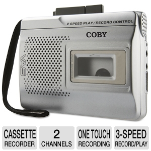 COBY CXR60 Voice-Activated Cassette Recorder